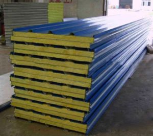High Quality Rockwool Sandwich Panel (DG9-003) pictures & photos