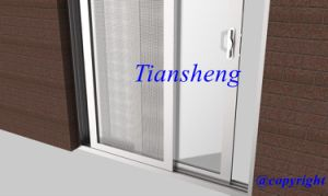 Customized Two Panels Aluminum Sliding Door with One Fixed One Sliding Panel for Villa pictures & photos