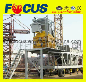 Movable Concrete Mixing Station Yhzs75 Mobile Concrete Batching Plant pictures & photos