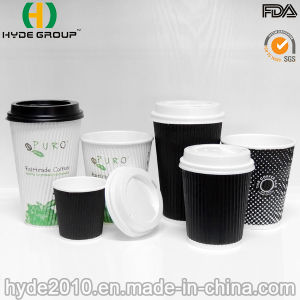 Corrugted Disposable Coffee Paper Cup, Ripple Wall Paper Cup (12oz) pictures & photos
