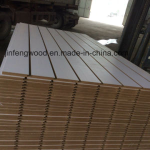 Titanium White MDF with 7 Grooves Slot pictures & photos