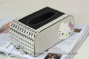 Luxury Diamond Crystal Jewelry Accessories Tissue Box Car Tissue Box for Home Decoration (TBB-004) pictures & photos