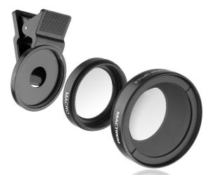 0.45X Super Wide Angle Lens + 12.5X Super Macro Lens + 37mm Thread Clip Holder