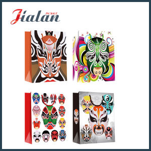 Peking Opera Makeup 190g Coated Paper Wholesales Paper Shopping Bag pictures & photos
