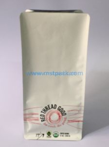 Flat Bottom Stand up Bag with Valve Coffee Bag pictures & photos