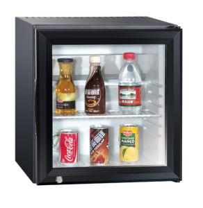 Customized Glass Door Beverage Wine Cooler Mini Fridge Transparent Door Xc-28 pictures & photos