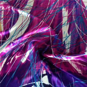 19m/M Silk Satin Printed in Colorful Lines