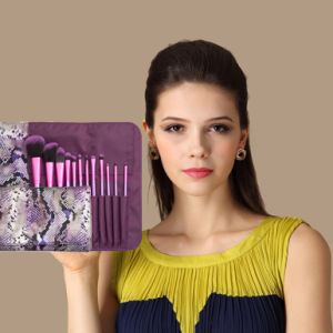 High Quality Makeup Brush Cosmetic Brush with Nylon Hair (12PCS) pictures & photos