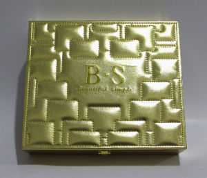 Luxurious Golden Leather Dressing Box pictures & photos