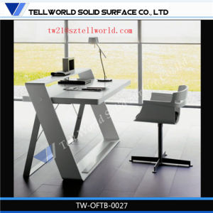 2.4m Unique Design Office Furniture Set Special Marble Wall Mounted Table Modern Solid Surface Office Table pictures & photos