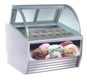 Hot Sale Gelato Refrigerated Display Showcase pictures & photos