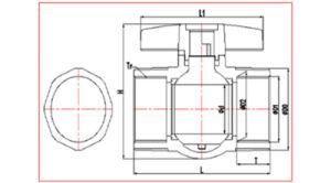 De40 De50 De63 DIN BSPT PVC Threaded Ball Valve pictures & photos