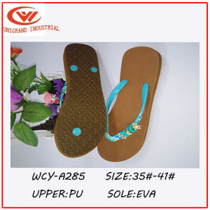 2016 Fashion Design Bowknot Flip Flops pictures & photos