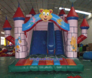 Inflatable Bouncy Jumping Castle with Slide Carnival Game (B094) pictures & photos