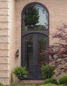 All-Hand-Forged Wrought Iron Double Entry Door Designs (UID-D157) pictures & photos