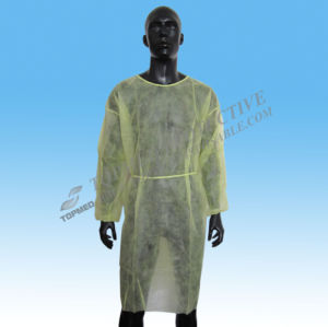 Hospital Nonwoven Gown, Non Woven Disposabble Visitor Gown pictures & photos