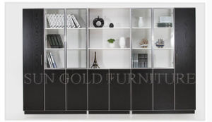 Modern Office Almirah Design Filing Cabinets with Glass Door (SZ-FC068) pictures & photos
