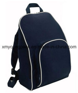 Promtional Navy Blue 600d Polyester Outdoor Basic Backpack pictures & photos