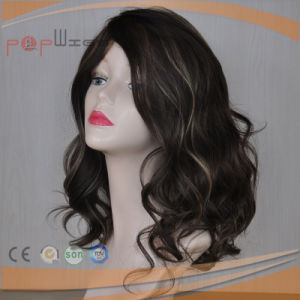 Full Lace Human Hair Two Color Hand Tied PU Border Women Wig pictures & photos