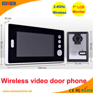7 Inch LCD 2.4GHz Wireless Video Door Phone pictures & photos