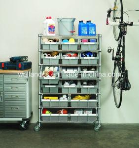 DIY Heavy Duty Chrome Metal Garage Bin Storage Wire Rack pictures & photos