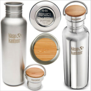500ml-1000ml Double Stainless Steel Flask with Bamboo Lid (DC-PL-500-1000) pictures & photos
