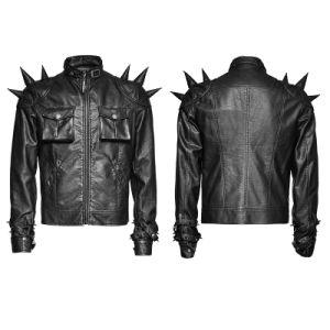 Y-700 Punk Rave Heavy Punk Cones Rock Short X- Men PU Leather Coat pictures & photos