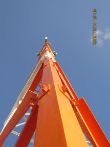 50m Light-Duty Steel Tower for Telecom Infrastructure Project in Mozambique