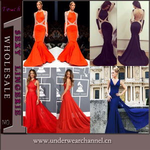 Wholesale Sexy Prom Party Club Celebrity Bodycon Evening Dress (TMKF082) pictures & photos