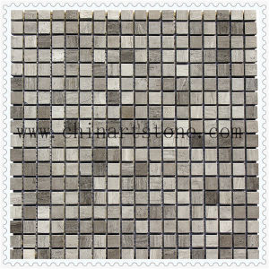 Two Colors Dark and Light Marble Mosaic Tile pictures & photos