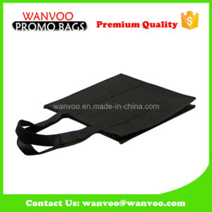 Black Non Woven PP Laminated Bag for Shopping Packing Handbags pictures & photos