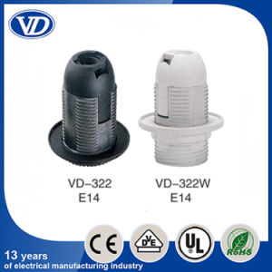 E14 Plastic Full Threading Body Lamp Holder Vd322