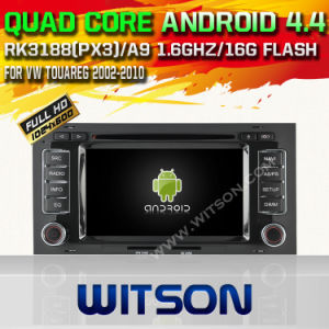 Witson Android 4.4 System Car DVD for Vw Touareg (W2-A6969) pictures & photos