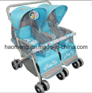 Double Seat Comfortable Baby Stroller pictures & photos