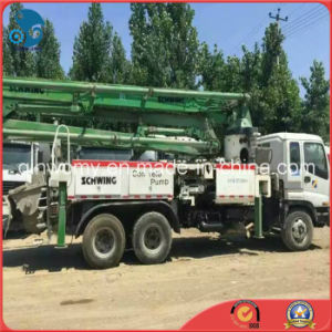 37m Concrete-Delivery 350~450HP 2003/26ton Used 8*4-LHD-Drive Isuzu-Chassis Schwing Pump Truck pictures & photos