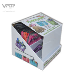 4 Tiers Cardboard Counter Top Display Transport Box for Bags pictures & photos