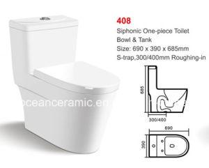 Siphonic One-Piece Toilet (No. 408) Ceramic Bathroom Sanitaryware pictures & photos
