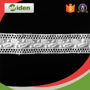 Water Soluble Lace Heavy Cord Lace Fabric Chemical Lace pictures & photos