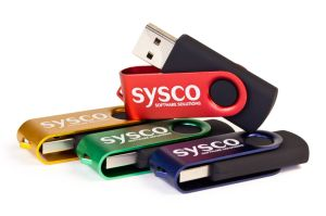 Custom Promotional Swivel USB Flash Drives 128MB-64GB