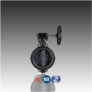 DIN ASTM JIS Geared PVC Butterfly Valve for Chemical Industry pictures & photos