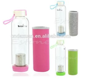 Hot Sale Borosilicate Drinking Glass Water Bottle with High Quality pictures & photos