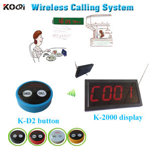 Hot Sell Vibrating Wireless Bell Call Service Push Button Call System pictures & photos