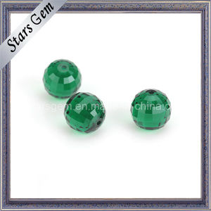 Colunbia Emerald Green Round Checker Cut Glass Beads pictures & photos