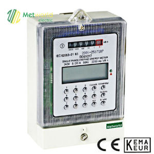 Single Phase Static Prepaid Energy Meter pictures & photos