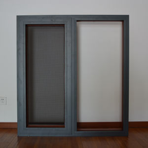 Aluminum Wood Profile Casement Window with Stainless Steel Screen K03024 pictures & photos