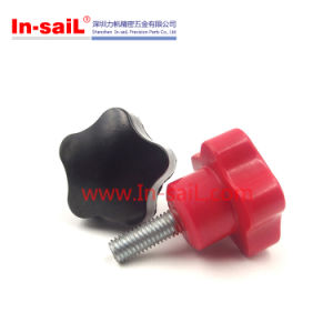M6 30mm Male Thread Star Head Clamping Knob Black pictures & photos