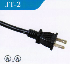 American 2 Pins AC Power Cord with UL Certified (JT-2) pictures & photos