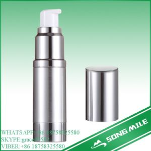 ISO 50ml Alumina Sliver Airless Bottle for Cosmetic pictures & photos