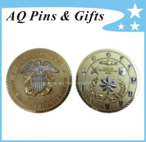 Brass Coin with Gold & Nickel Plating pictures & photos