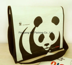 Recycle Eco Pattern Duffle PP Woven Shoulder Bag pictures & photos